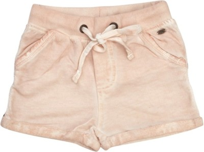 Fiore Solid Girl's Pink Basic Shorts