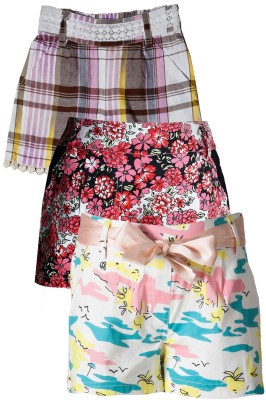 Naughty Ninos Woven Girl's Multicolor Basic Shorts