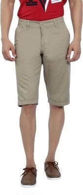 Live In Solid Men's Beige Basic Shorts