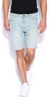 VANS Solid Men's Blue Denim Shorts