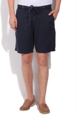 Gant Solid Men's Dark Blue Basic Shorts