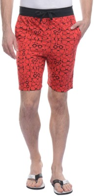 Rose Taylor Printed Men's Red Basic Shorts