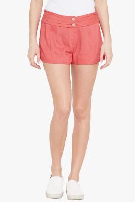 Ozel Studio Solid Women's Orange Beach Shorts