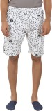 Tantra Printed Men's White Basic Shorts