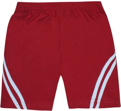 Jazzup Solid Boy's Red Basic Shorts