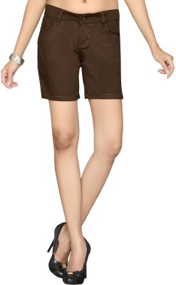 Dragaon Solid Women's Brown Basic Shorts