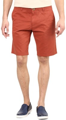 American Swan Solid Men's Red Basic Shorts