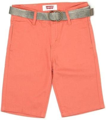 Levi's Solid Boy's Orange Basic Shorts