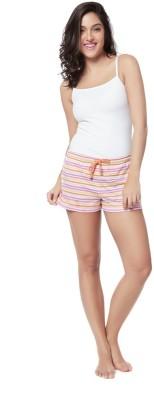 Mystere Paris Striped Women's Multicolor Night Shorts