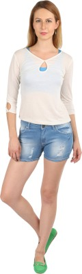 Klorophyl Woven Women's Light Blue Denim Shorts