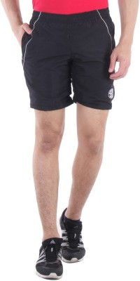 Sports 52 Wear Solid Men's Black, White Sports Shorts