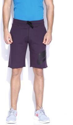 Nike Solid Men's Purple Sports Shorts