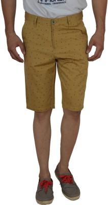 Studio Nexx Printed Men's Beige Basic Shorts, Chino Shorts
