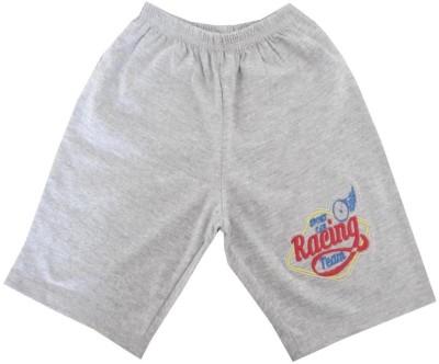 Magic Train Applique Baby Boy's Grey Basic Shorts