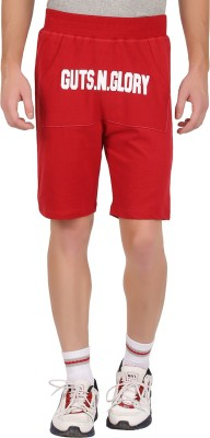 GUTS N GLORY Printed Men's Red Sports Shorts