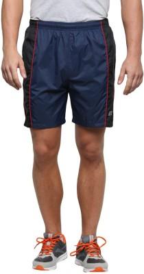 Jj Sports Solid Men's Blue Sports Shorts