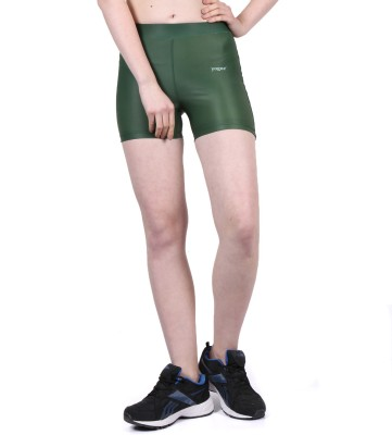 Yogue Printed Women's Green Gym Shorts