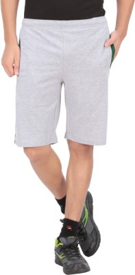 Indian Engineer Solid Men's Grey, Green Basic Shorts
