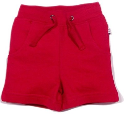 Solittle Solid Baby Boy,s Red Basic Shorts