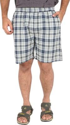 Cub Checkered Men's Black, White Basic Shorts