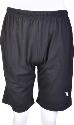 Proxim Solid Men's Black Sports Shorts