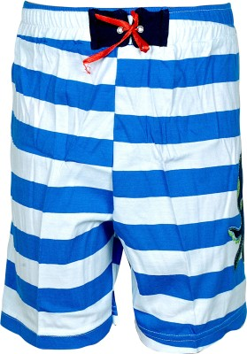Gee & Bee Printed Boy's Blue Sports Shorts