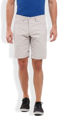 Parx Solid Men's Grey Basic Shorts