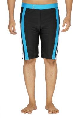 Dezire Solid Men's Black, Light Blue Swim Shorts