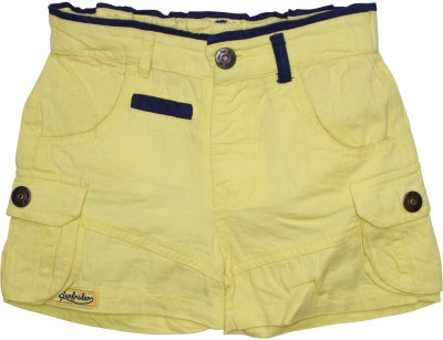 FS Mini Klub Short For Boys(Yellow, 3 - 4 Years, Pack of 1)