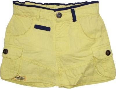 FS Mini Klub Solid Boy's Yellow Basic Shorts