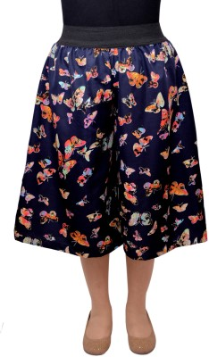 V3ishop Printed Women's Blue Culotte Shorts
