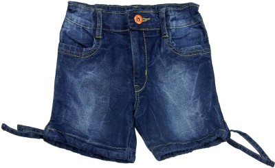 NASCENT Solid Boy,s Dark Blue Denim Shorts