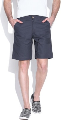 Hubberholme Solid Men's Grey Chino Shorts