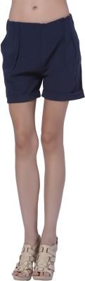 Trendy Divva Self Design Women's Blue Basic Shorts