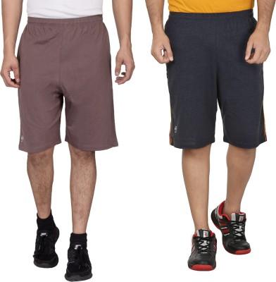 SST Solid Men's Beige Basic Shorts
