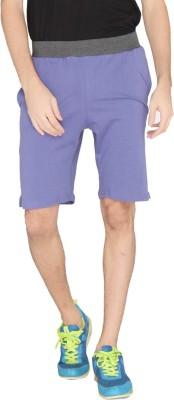 LUCfashion Solid Men's Light Blue, Black Sports Shorts