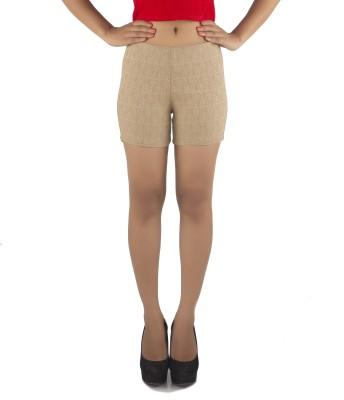 Vostro Moda Printed Women's Beige Basic Shorts