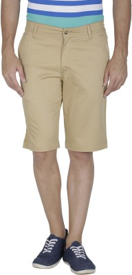 Inspire Solid Men's Gold Chino Shorts
