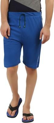 Hotfits Solid Men's Blue Basic Shorts