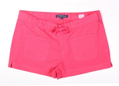 Allen Solly Solid Girl's Pink Basic Shorts