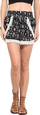 Rena Love Printed Women's Black, White Basic Shorts