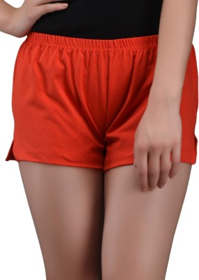 Finesse Solid Women's Red Hotpants