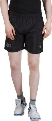 Goodluck Solid Men,s Black, Green Sports Shorts