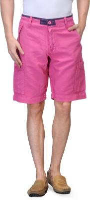 Global Nomad Solid Men's Pink Cargo Shorts