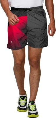 Proplay Printed Men's Grey Sports Shorts