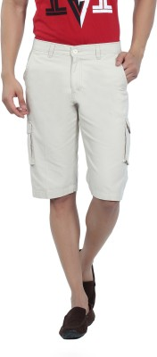Live In Solid Men's Grey Cargo Shorts