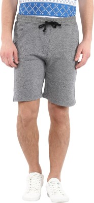 American Crew Solid Men's Dark Blue, Grey Basic Shorts