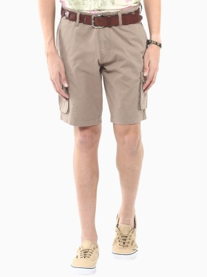 American Swan Solid Men's Brown Cargo Shorts