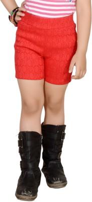 Pretty Angel Printed Girl's Multicolor Basic Shorts