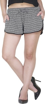 9onnine Printed Women's Black Cargo Shorts